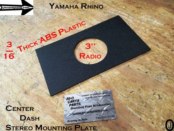 "Yamaha Rhino ABS Plastic Center Dash Plate For Mounting 3"" Stereo And Switches"