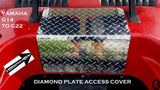Yamaha G14 to G22 Golf Cart polished Aluminum Diamond Plate ACCESS PANEL COVER