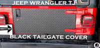 Jeep Wrangler TJ Highly Polished Aluminum Diamond Plate 1 pc Tailgate Cover