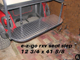 Ezgo RXV Golf Cart Highly Polished Aluminum Diamond Plate Rear Seat Step Cover