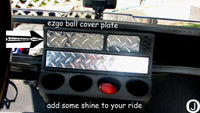 Ezgo Golf Cart Highly Polished Aluminum Diamond Plate Ball Holder Cover
