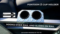 Pontoon Boat 2 Cup Holder Aluminum Diamond Plate Fit 1 1/4 Inch Fence Rail