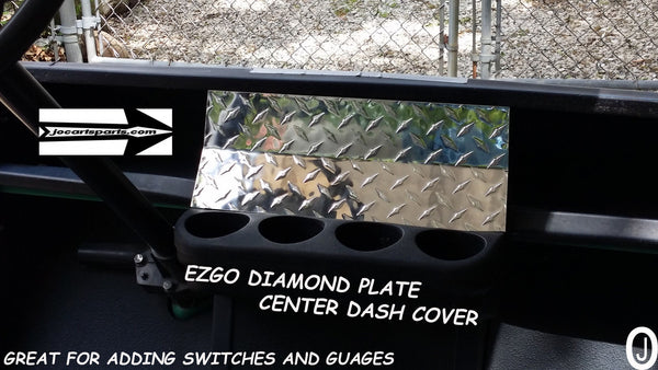 Ezgo TXT Golf Cart Highly Polished Aluminum Diamond Plate 1 piece Dash Cover