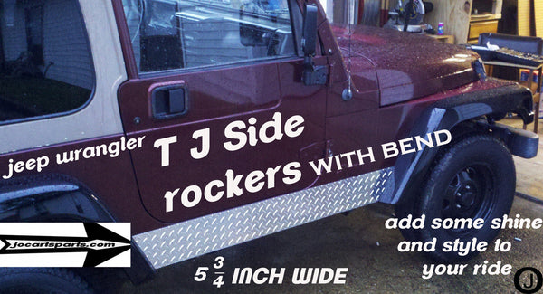 JEEP Wrangler TJ Aluminum Diamond Plate Rocker Panel Set 1 inch bend 5 3/4 Wide