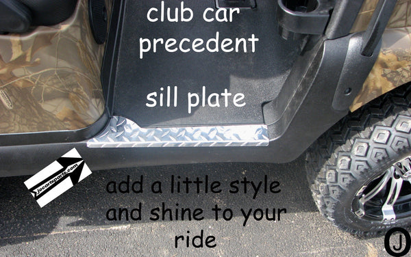 Club Car PRECEDENT golf cart Polished Aluminum Diamond plate rocker SILL PLATES