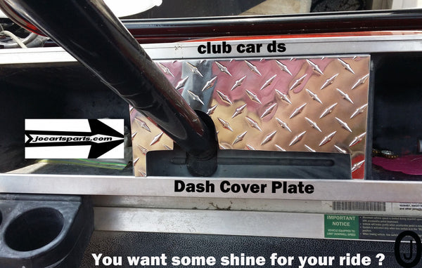 Club Car Ds Golf Cart Highly Polished Aluminum Diamond Plate Dash Cover
