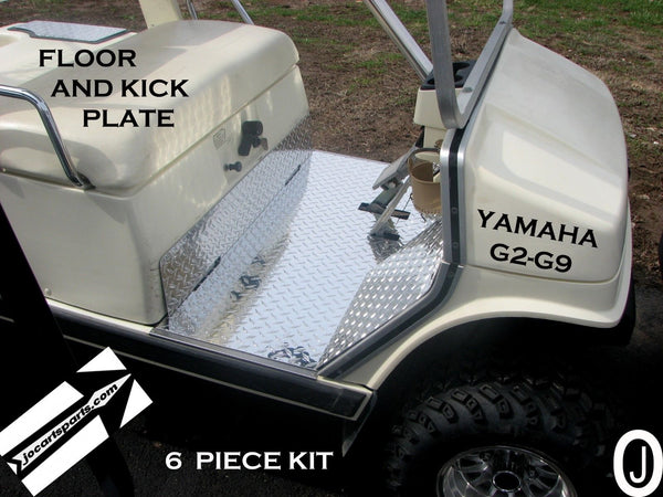 YAMAHA G2/G9 golf cart Aluminum Diamond Plate Floor And Kick Plate 6 piece kit