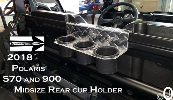 Polaris 2018,  570 & 900 Midsize Aluminum Diamond Plate Backseat Cup Holder