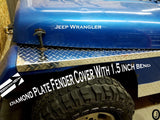 Jeep Wrangler YJ Aluminum Diamond Plate Fender Covers With 1.5 inch Bend