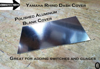 Yamaha Rhino Center Dash abs Plastic Blank Cover Plate for Mounting Gauges