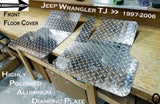 Jeep TJ Wrangler Aluminum Diamond Plate Front Floor Covers