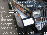 Jeep Wrangler TJ Aluminum Diamond Plate Fender Cover Set Fullsize 40 inch long