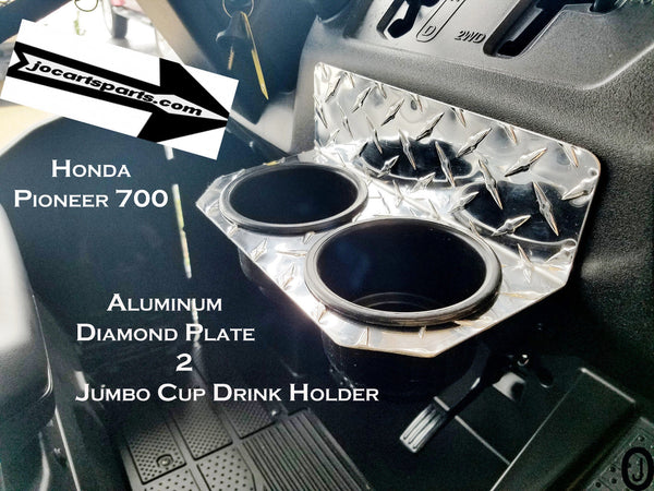 Honda Pioneer 700 Dash Cup Holder Aluminum Diamond Plate