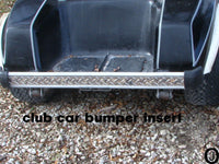 Club Car DS Golf Cart Highly Polished Aluminum Diamond Plate Rear Bumper Insert
