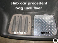 Club Car PRECEDENT golf cart Polished Aluminum Diamond plate Bagwell Floor
