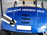 Ezgo Golf Cart Highly Polished Aluminum Diamond Plate Front Name Plate Cover