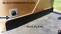 Yamaha G1 Golf Cart Highly Polished Aluminum Diamond Plate KICK plate
