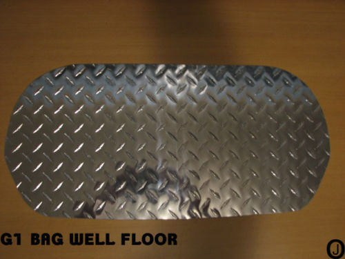 Yamaha G1 Golf Cart polished Aluminum Diamond Plate Bagwell Floor Cover Fits 1979 to 1986