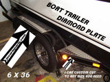 Boat Trailer Highly Polished Aluminum Diamond Plate Fender Covers.