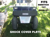 Ezgo MARATHON & TXT Golf Cart Aluminum Diamond Plate SHOCK COVER/ SHIELD