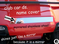 CLUB CAR DIAMOND PLATE NAME COVER PLATE