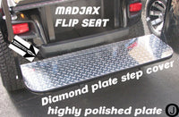 MadJax Model Golf Cart Diamond Plate Flip Seat Step Cover ezgo-club car-yamaha