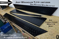 Jeep Wrangler TJ Aluminum Diamond Plate no cut out Rockers & Fender Bend set