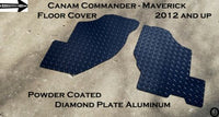 Can Am Maverick Rugged Tread Brite Aluminum Diamond Plate Floor Covers