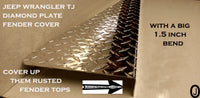 JEEP Wrangler TJ Aluminum Diamond Plate Fender Top Covers With 1.5 inch BEND