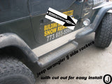 Jeep Wrangler TJ Aluminum Diamond Plate Rocker Panels with cut out 5 3/4 wide