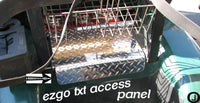 Ezgo TXT Golf Cart Highly Polished Aluminum Diamond Plate ACCESS PANEL