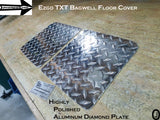 Ezgo TXT Golf Cart Highly Polished Aluminum Diamond Plate BagWell Floor Cover