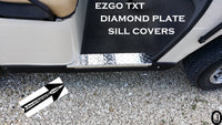 Ezgo TXT Highly Polished Aluminum Diamond Plate Rocker Panel / SILL COVERS