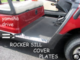 Yamaha Drive G29 Golf Cart Polished Aluminum Diamond Plate Rocker Sill covers
