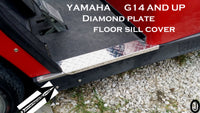 Yamaha G14 to G22 Golf Cart Poilshed Aluminum Diamond Plate Rocker Sills set