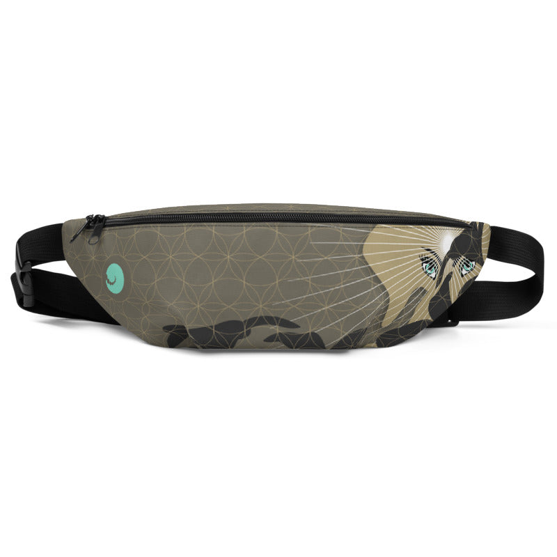 """JUNGLE PACK"" Fanny Pack in khaki & greige"