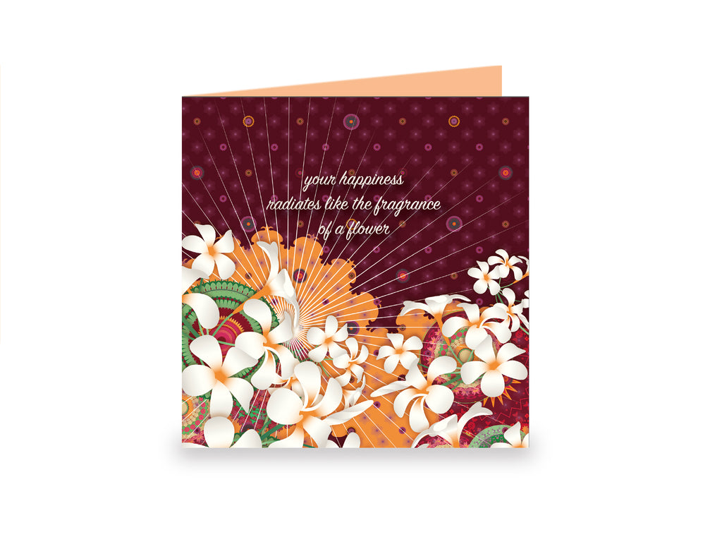 """FRAGRANCE"" 3 Lovely Greeting Cards by MOKSHAMAN®"