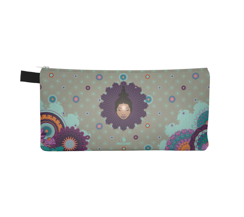Vibrant Pencil Case by Mokshaman® in greige