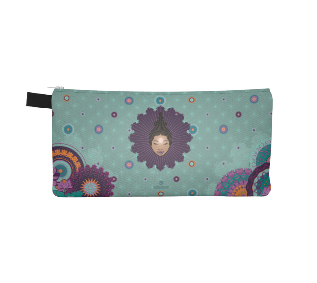 Vibrant Pencil Case by Mokshaman® in mint