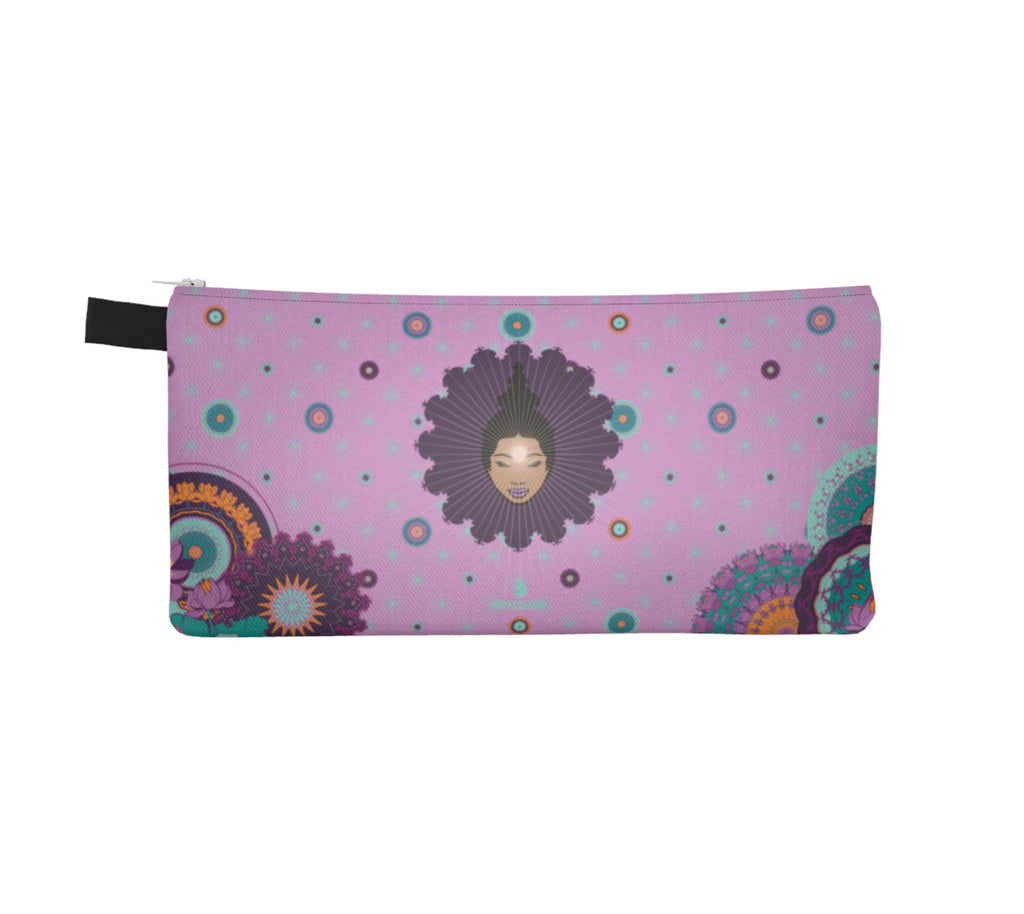 Vibrant Pencil Case by Mokshaman® in lilac