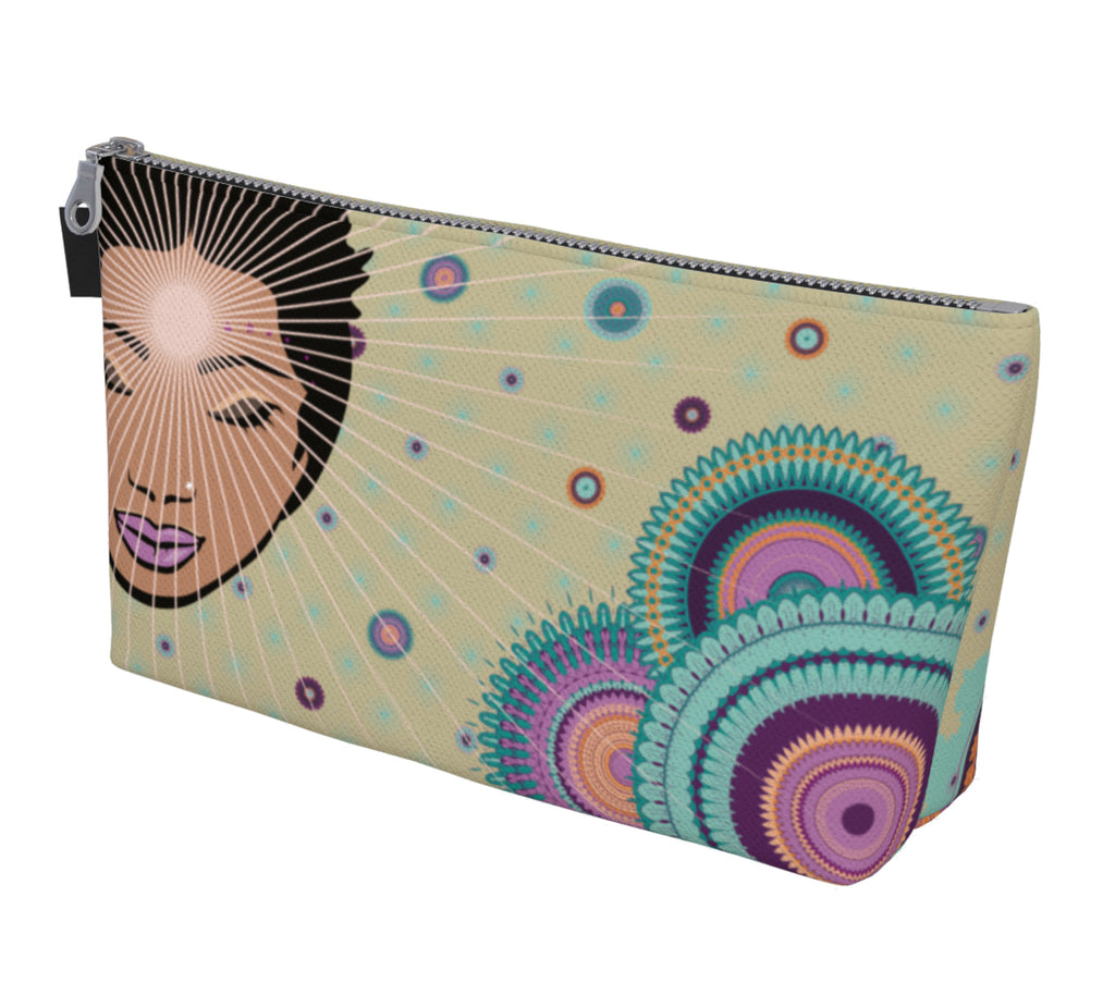 Vibrant Make up Bag by Mokshaman® in greige