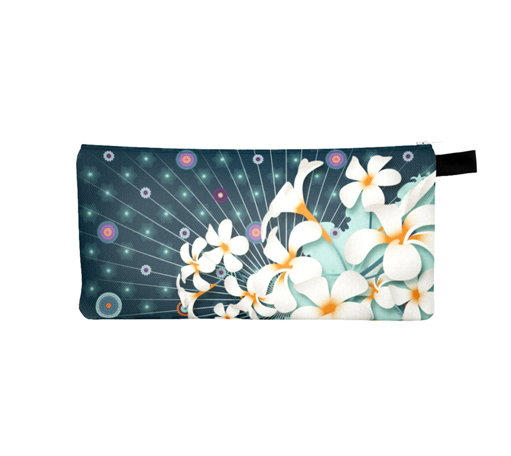 Templeflower Pencil Case by Mokshaman® in petrol & mint