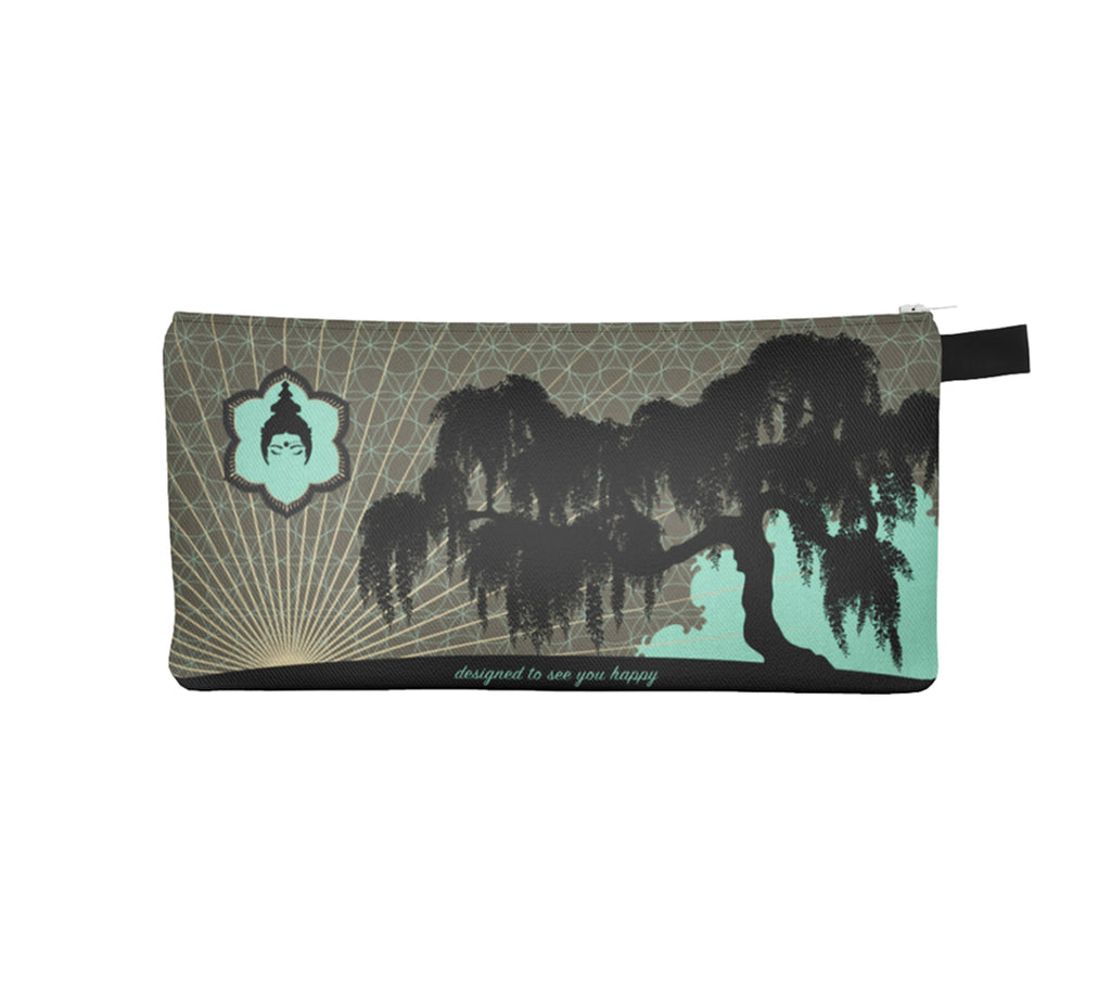 Urban Jungle Pencil Case by Mokshaman® in greige & mint