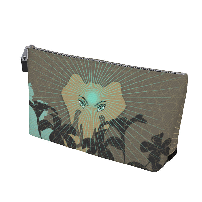 """URBAN JUNGLE"" Neccessaire in Khaki & Mint"