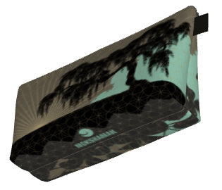 Urban Jungle Make up Bag by Mokshaman® in khaki & mint