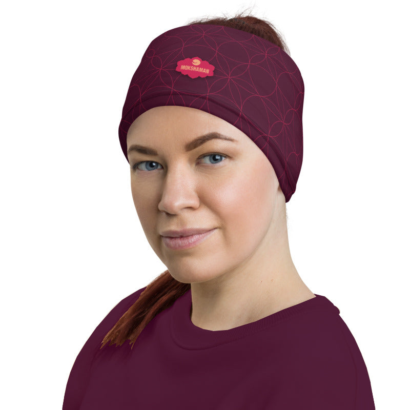 """Breathe"" neck gaiter by MOKSHAMAN® in burgundy"