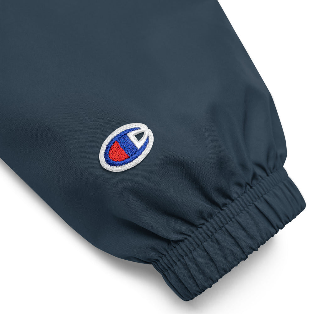 Coco's Champion Packable Jacket, embroidered in silver