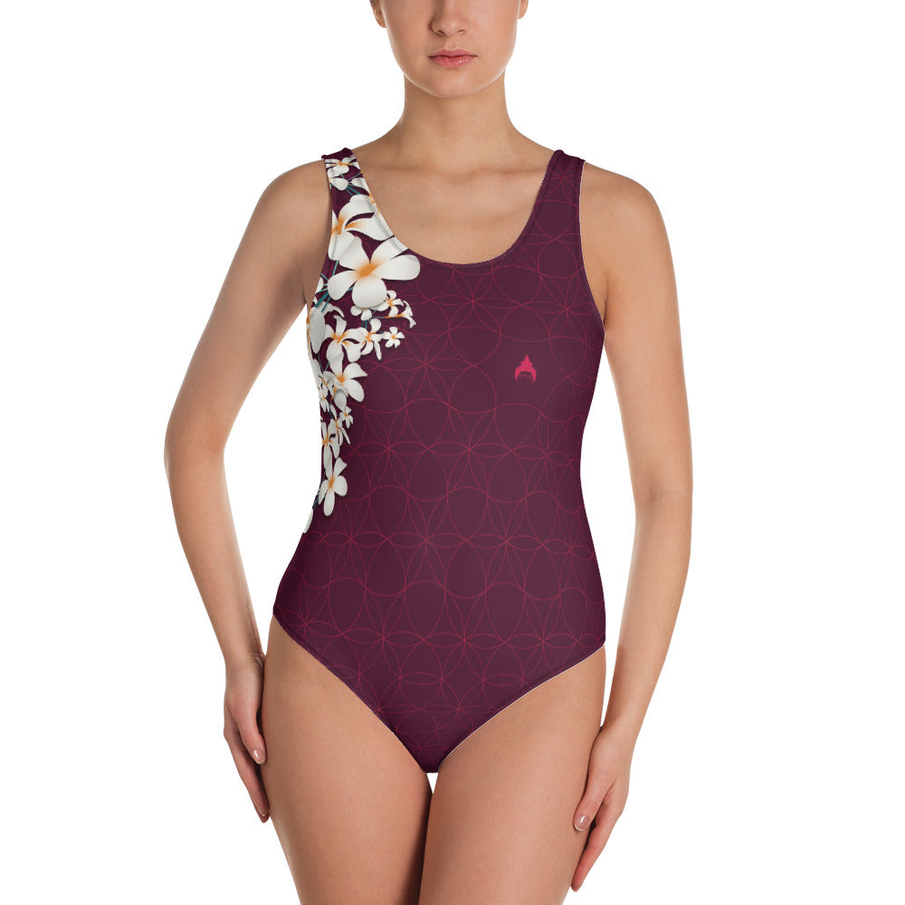 """OMAJANA"" Vibrant Swimsuit in burgundy"