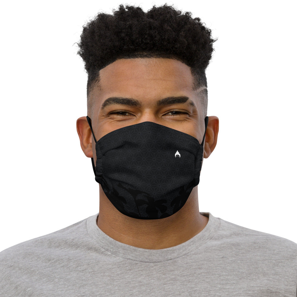 """AWARE"" Face mask by MOKSHAMAN® in charcoal"
