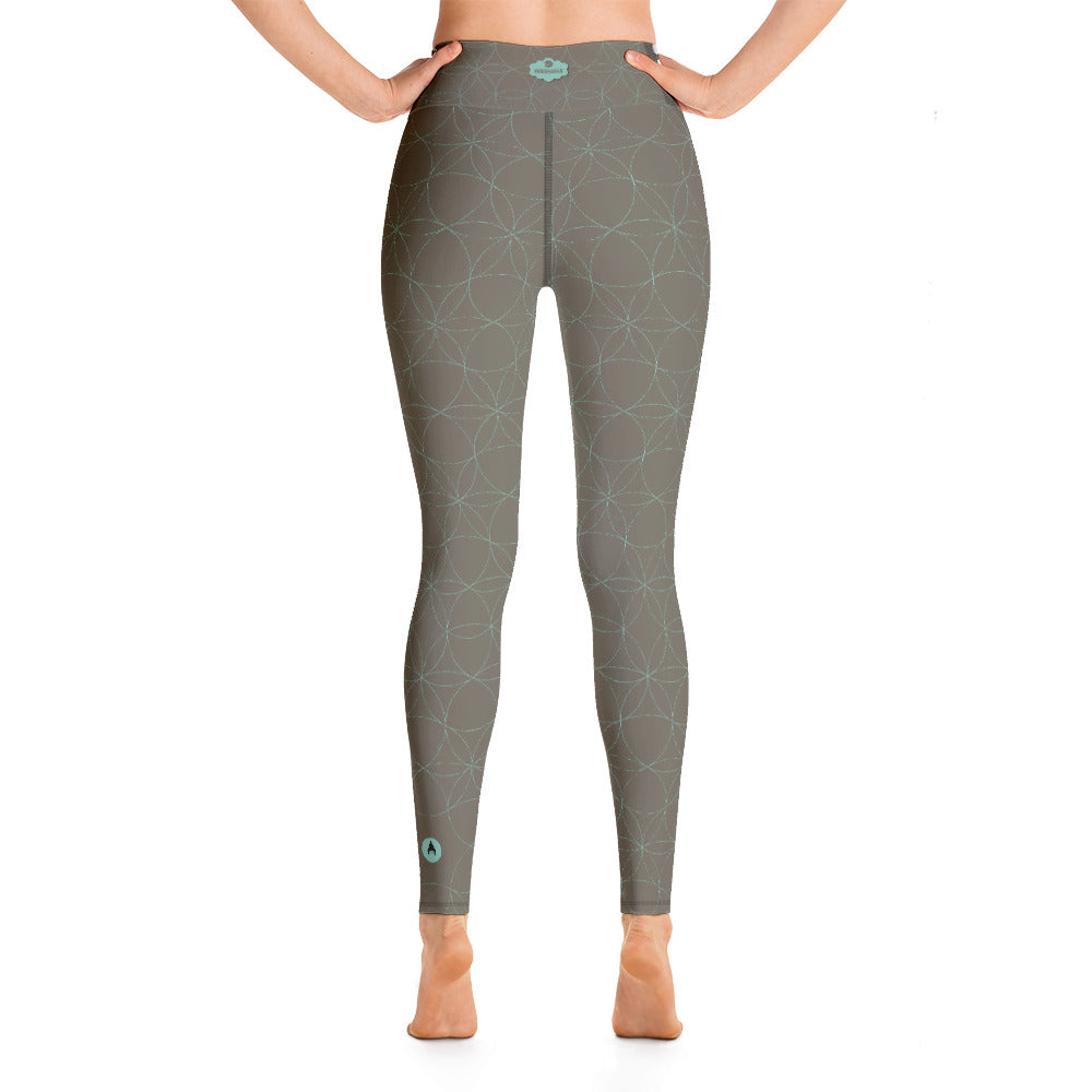 """KYRA"" Yoga Leggins in Khaki & Minze"
